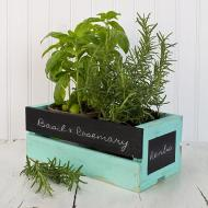Distressed Chalkboard Crate