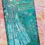 Dress Form Mixed Media Tag
