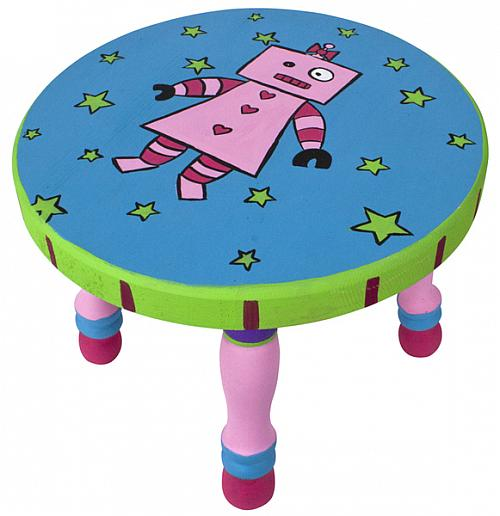 Girl Robot Stool in bright colors