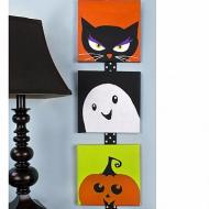 Halloween Canvas Trio