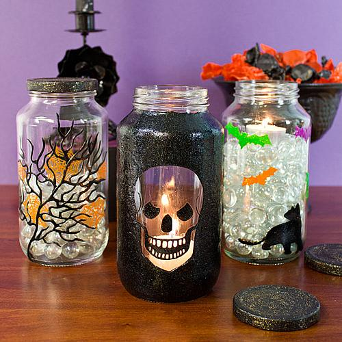 Spooky Halloween Jar Trio Project By Decoart