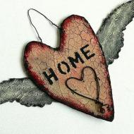 Home Crackled Heart
