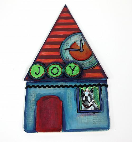 Mixed Media House Ornament Project By Decoart