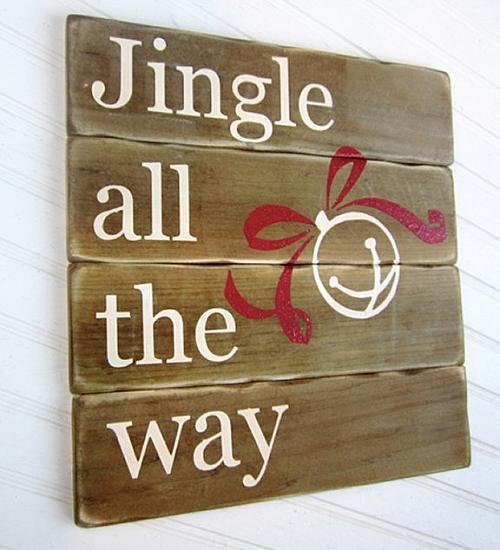 Jingle All The Way Holiday Sign Project By Decoart