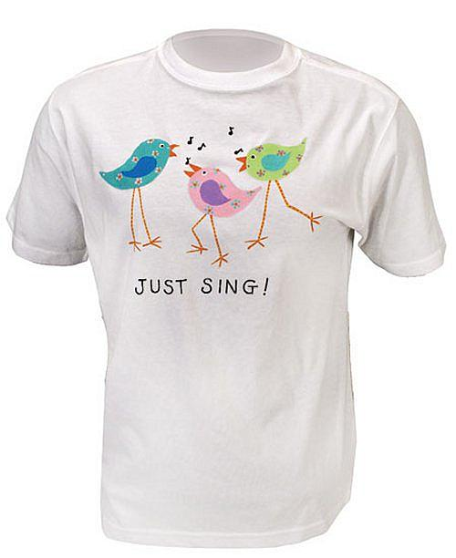 Just sing t shirt project by decoart for How to paint on t shirt
