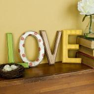 Metallic LOVE Letters