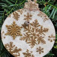 Crackled Snowflake Ornament