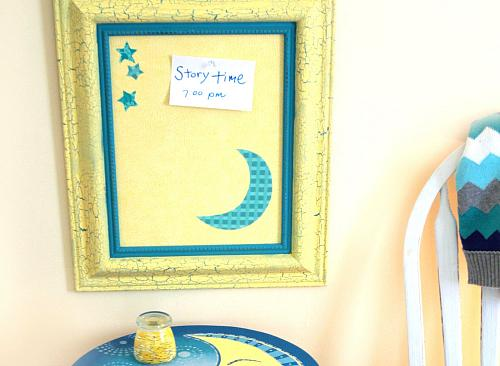 Crackled Framed Moon Amp Stars Bulletin Board Project By