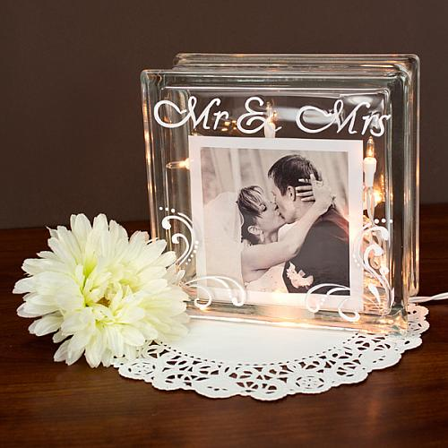 Mr And Mrs Glass Cube Project By Decoart