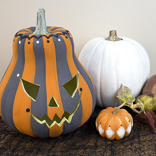 Striped Painted Pumpkin Project By Decoart