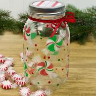 Peppermint Candy Jar