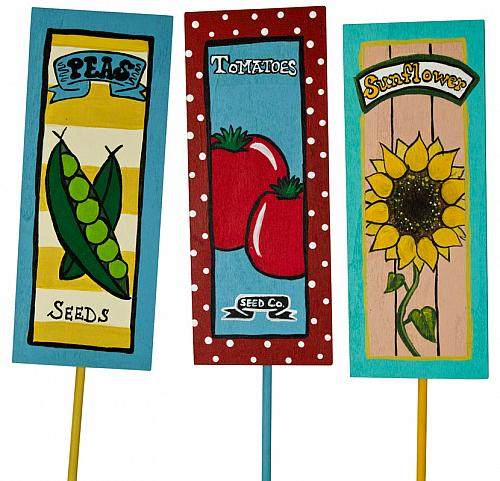 Garden Plant Signs Project by DecoArt – Garden Plant Signs