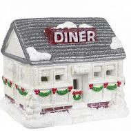 Snow-Covered Diner