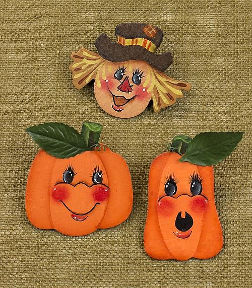 Scarecrow And Pumpkin Fall Pins Project By Decoart