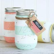 Spring Striped Jars