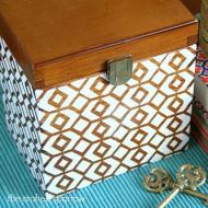Stenciled Wooden Box