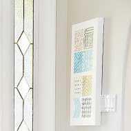 Simple Stenciled Wall Art