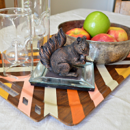Striped Ombré Wooden Tray