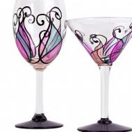 Swirl Wine and Martini Glasses