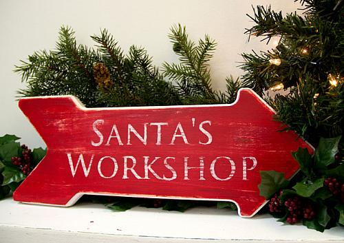 This Way To Santa S Workshop Project By Decoart
