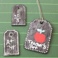 Chalkboard Dog Tag Necklaces