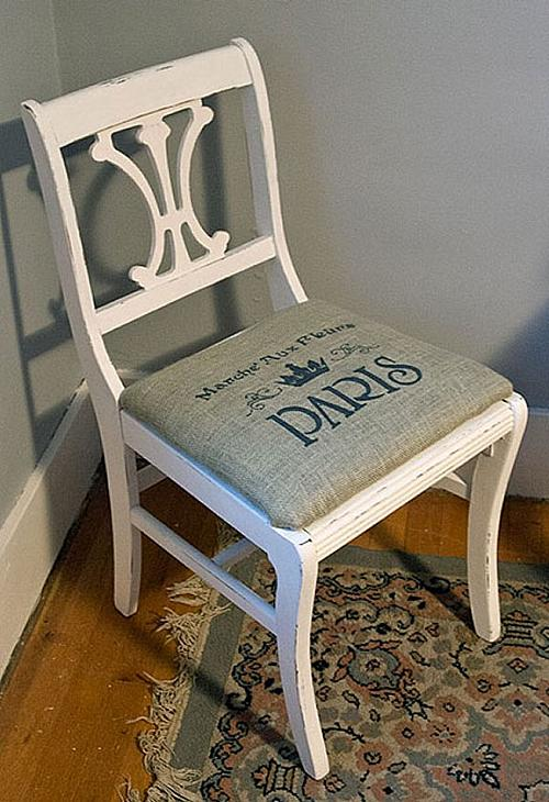 Exceptionnel Painted, Burlap Seated Chair   Project By DecoArt