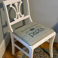 Burlap-Seated Chair