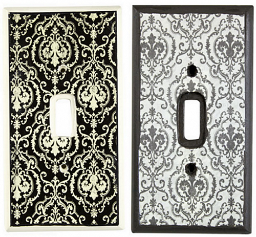 Vintage And Ornate Light Switch Plates Project By Decoart