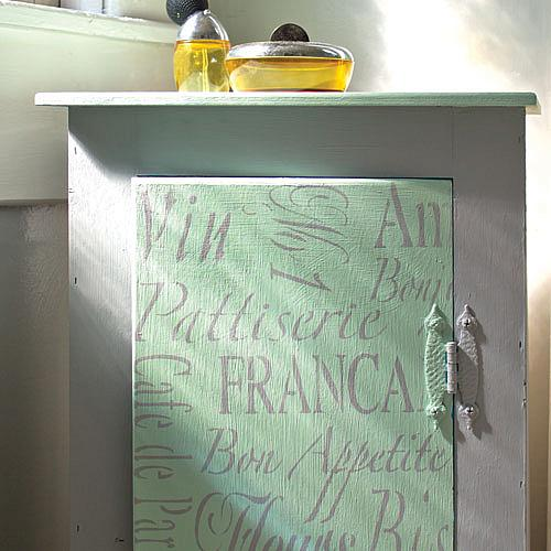 French-Style Bathroom Cabinet