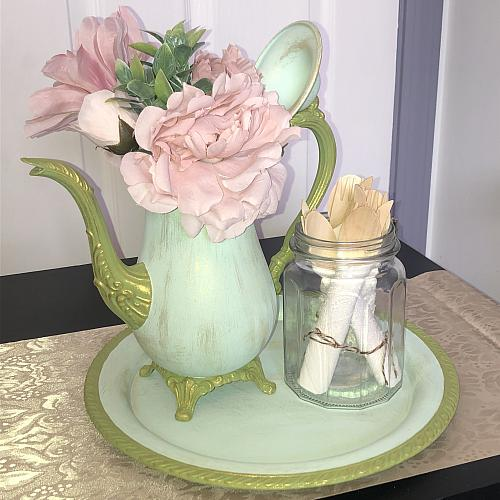 DIY Painted Teapot Vase