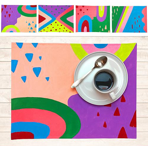 Fabric Painting   Colorful Placemat