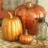 Metallic Fall Pumpkins