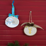 Snowman & Deer Ornaments