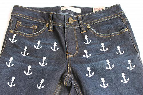 Painted Jeans | Anchor Designs