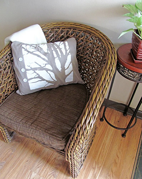 Modern Tree Silhouette Pillow