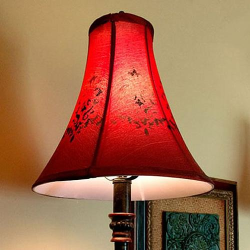 Stenciled Brocade Lampshade Project By Decoart