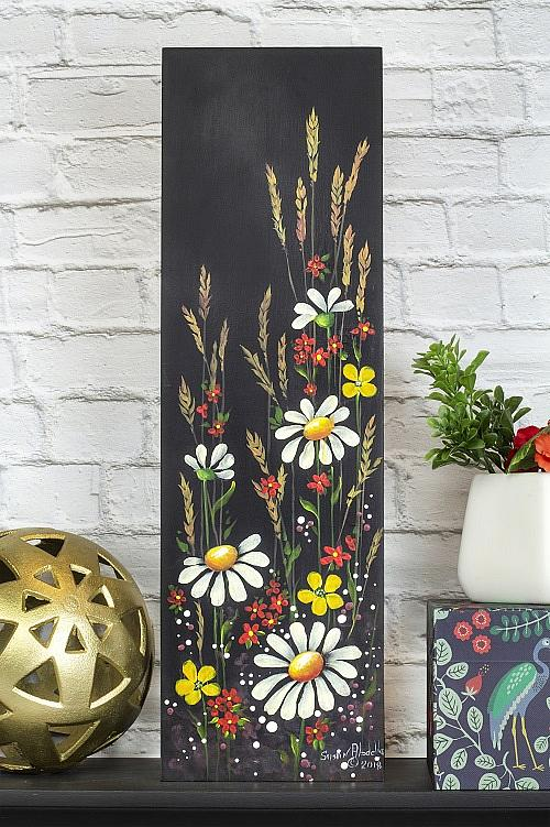 Stroked Flowers for Fall Panel