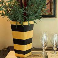 Tuscan Striped Vase