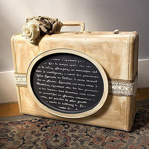 Distressed Vintage Suitcase Project By Decoart