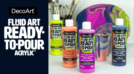 Introducing Fluid Art Ready to Pour Paint