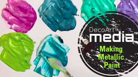 Making Metallic Paint with Media