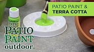 Using Patio Paint Outdoor on Terra Cotta