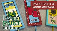 Using Patio Paint Outdoor on Wood