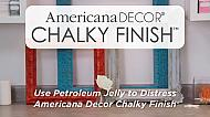 How to distress using petroleum jelly and Americana Decor Chalky Finish