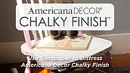 How to use sandpaper to distress Americana Decor Chalky Finish