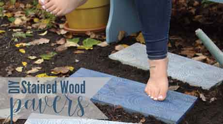 DIY Wooden Pavers