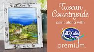 Tuscany Countryside Canvas Painting with Americana Premium