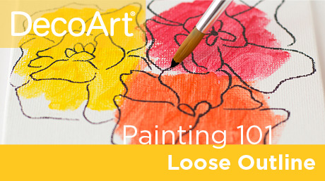 Canvas Painting 101 - Loose Outlining