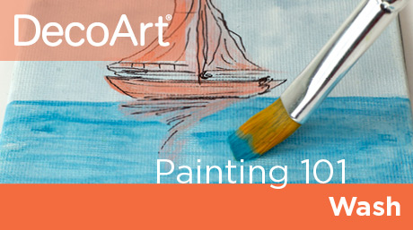 Canvas Painting 101 - Wash