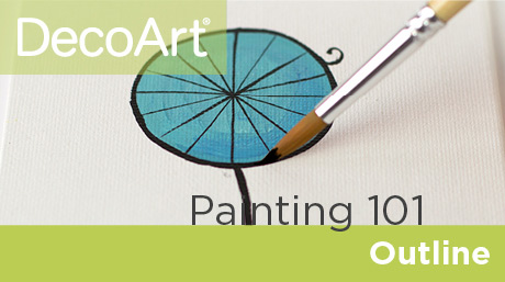 Canvas Painting 101 - Outlining